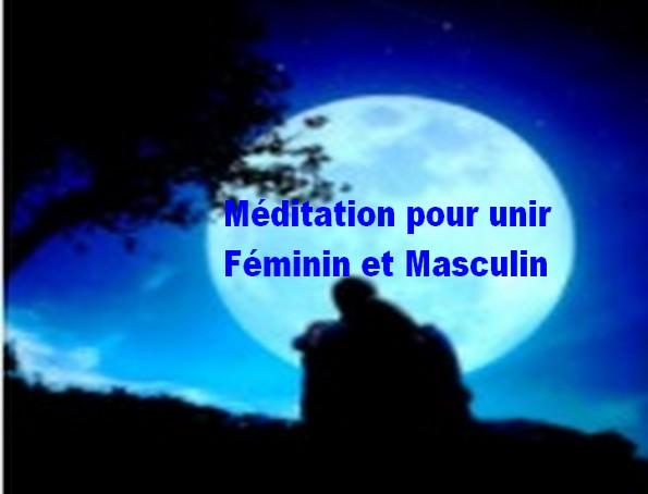 méditation union féminin masculin