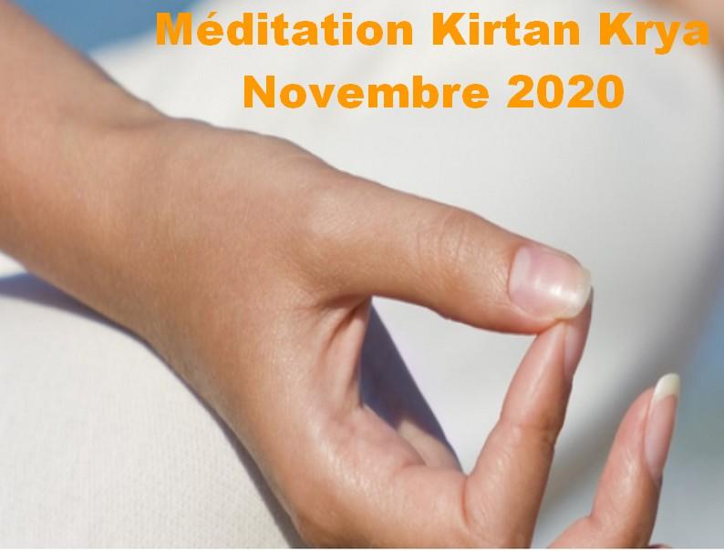 Méditation Kirtan Krya novembre 2020