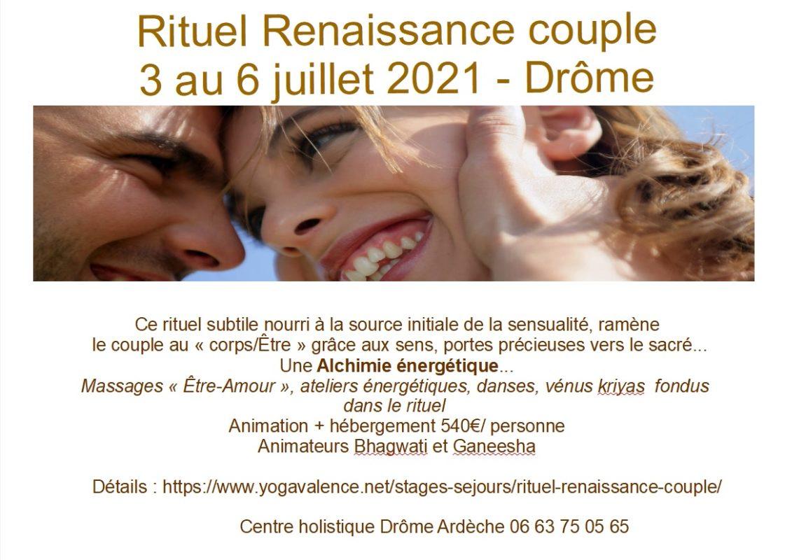 Rituel Renaissance Couple Centre holistique Drôme ardèche