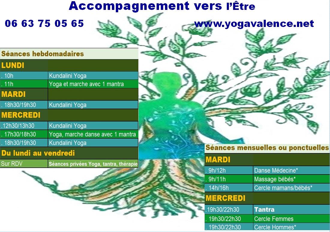 Programme séances Yoga Valence