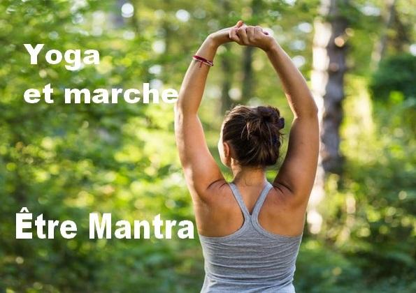 yoga et marche avec 1 mantra